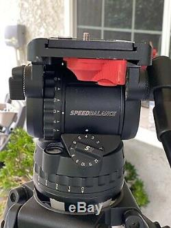 Sachtler Video DV 12 SB Fluid Head Carbon Fiber Tripod 12SB 100mm and Soft Bag