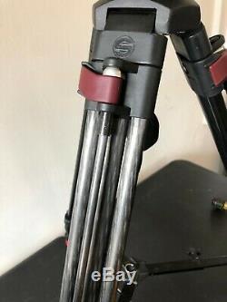 Sachtler Video FSB-6 Head Carbon Fiber Leg Speed Lock Tripod 0475 with Bag Case