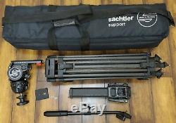 Satchler ENG 2 CF 5386 Carbon Fiber Tripod + Fluid Head Free Shipping