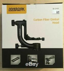 SevenOak SK-GH02 Carbon Fiber Gimbal Tripod Head +Arca-Swiss Quick Release Plate