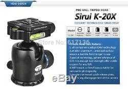 Sirui Carbon Fiber N2205x Tripod K20x Ball Head Good Condition for Travel