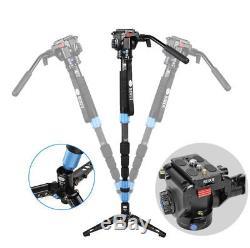 Sirui P-224SR+VA-5 Carbon Fiber Monopod Tripod For Camera Video Head Loading 8kg