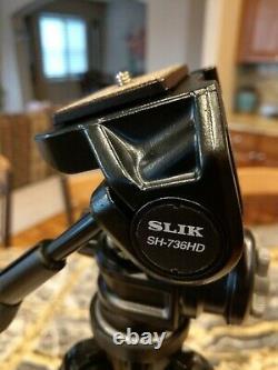 Slik PRO CF-634 Carbon Fiber Tripod, 4 Leg Sections With Slik 3-way QR Pan Head