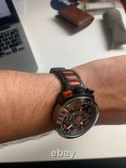 Swiss Made RONDA 3540D Bull-head chronograph Nicolet Triumph watch Titanium Case