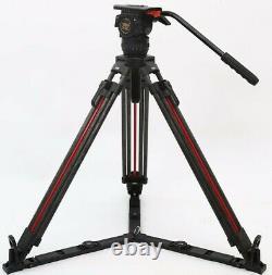 TERIS Carbon Video Professional Tripod with Fluid Head 7KG Quick Setup TS-N6T-Q
