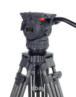 TERIS TRIX TCE-CF Carbon Fiber Camera Tripod with Fluid Head Load 7KG