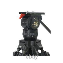 TERIS TS-N6T Professional Carbon Fiber Video Camera Tripod Kit with Fluid Head 7KG