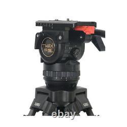 TERIS TS-N6T-Q Carbon Fiber Video Camera Tripod with Fluid Head 7KG Professional