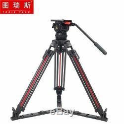 TERIS TX-V12T-PLUS-Q Carbon Fiber Video Camera Tripod Fluid Head 7KG Quick Lock