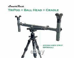 Tripod Carbon Fibre tripod Short + Ball Head + Gun Cradle Rest SmartRest
