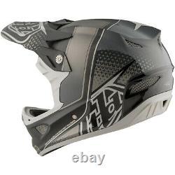 Troy Lee Designs TLD D3 Carbon MIPS MTB Bicycle Helmet Starburst Black Medium