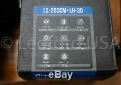 USED Leofoto LS-283CM GROUND-LEVEL Carbon Fiber Tripod and LH-30 Ball Head / Bag