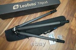 USED Leofoto LS-323C +LH-40 Ball head Pro Carbon Fiber Tripod Kit with Case