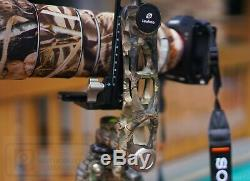 USED Leofoto LS-365C + PG-1 Camouflage Carbon Fiber Tripod with Gimbal Head