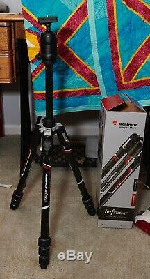Used Manfrotto Befree GT Carbon Fiber Travel Tripod with 496 Center Ball Head