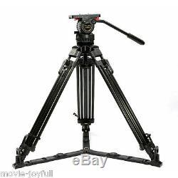 V15T 70 Pro Carbon Video Tripod kit Camcorder Tripod Fluid Head 15KG HDV FILM