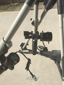 Vinten Vision 11 Fluid Head Tripod Carbon Fiber Legs 100mm With Fujinon Srd 92