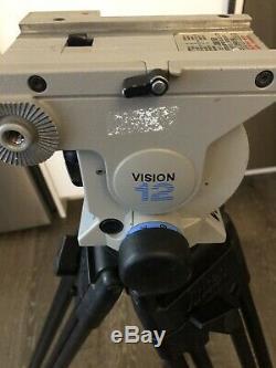 Vinten Vision 12 Fluid Head & Heavy Duty Carbon Fiber 2-Stage 100mm bowl Tripod