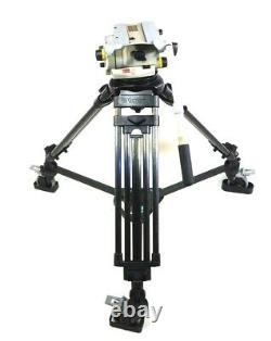 Vinten Vision 250 2 STAGE EFP CARBON TRIPOD SYS DOLLY TELEBAR PL SERVICED 73Lbs