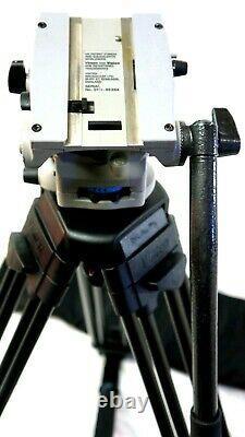 Vinten Vision 8 FLUID HEAD PLATE CF CARBON FIBER TRIPOD SYS GRSPR SERVICED 31Lb