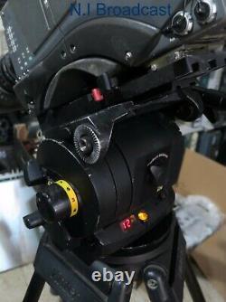 Vinten vision 250 black tripod head and carbon fibre legs