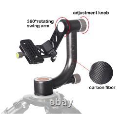 XILETU XGH-1 Heavy Duty Carbon Fiber Gimbal Tripod Head f/ Camera Telephoto Lens