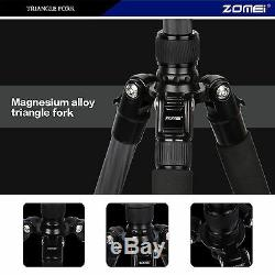 Z668C Professional Portable Carbon Fiber Tripod Monopod&Ball Head for SLR camera