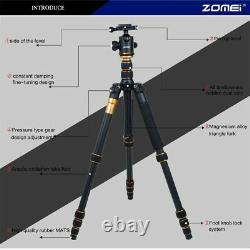 ZOMEI Carbon Fiber Independent Tripod &Ball Head Travel for Canon DSLR Camera