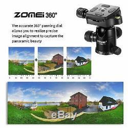 ZOMEI Q666C Carbon Fiber Camera Tripod HeavyDuty Lightweight with 360° Ball Head
