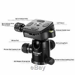 ZOMEI Q666C Pro Portable Carbon Fiber Tripod monopod Ball Head for DSLR Camera
