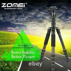 ZOMEI Q666c Portable Pro Travel Fiber Tripod monopod&Ball Head for DSLR Camera