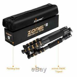 ZOMEI Tripod Z669C Portable Carbon Fiber Ball Head Monopod Tripod for Canera