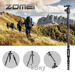 ZOMEI Z669C Carbon Fiber Travel Tripod Monopod with Ball Head for DSLR Camera