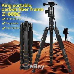 ZOMEI Z669C Professional Carbon Fiber Tripod Monopod&Ball Head for DSLR Camera