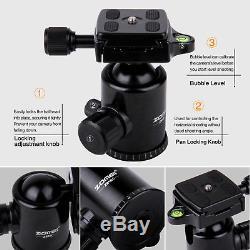 ZOMEI Z818C Lightweight Carbon Fiber Tripod Monopod Ball Head for Camera Hiking