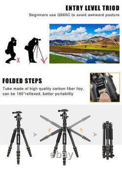 ZOMEi Q666C Portable Carbon FibreTripod Monopod&Ball Head For Canon Nikon Camera